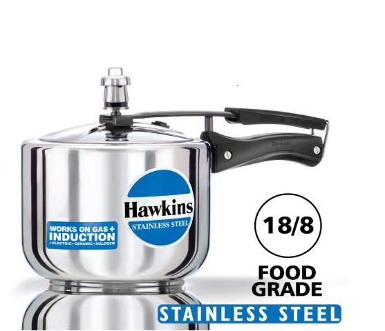 Steel Pressure cooker hawkins