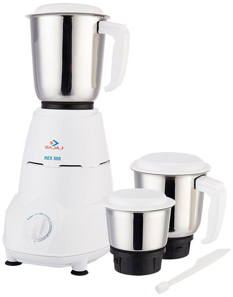 Bajaj Rex 500-Watt White Mixer