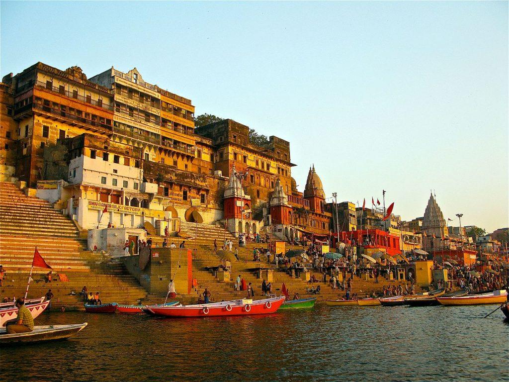 Ahilya Ghat by the Ganges Varanasi