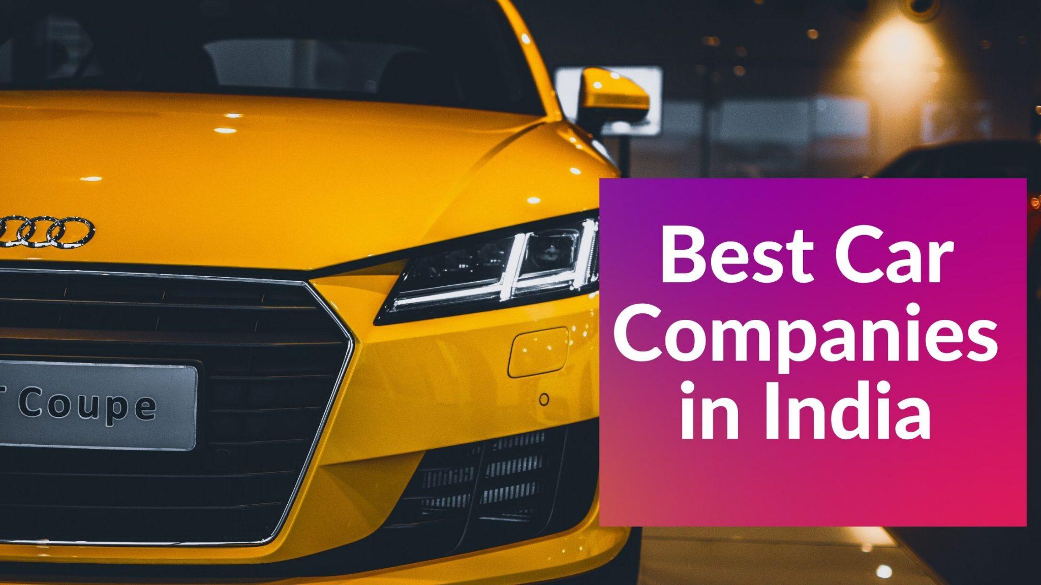 Best Car Companies in India