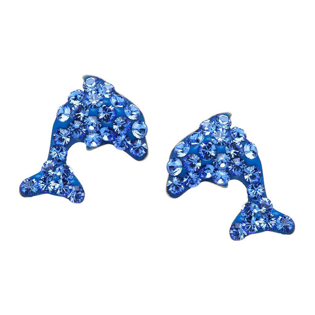 Crystaluxe Dolphin Stud Earrings