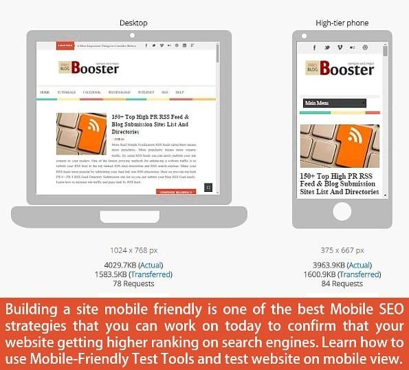 Mobile friendly Site