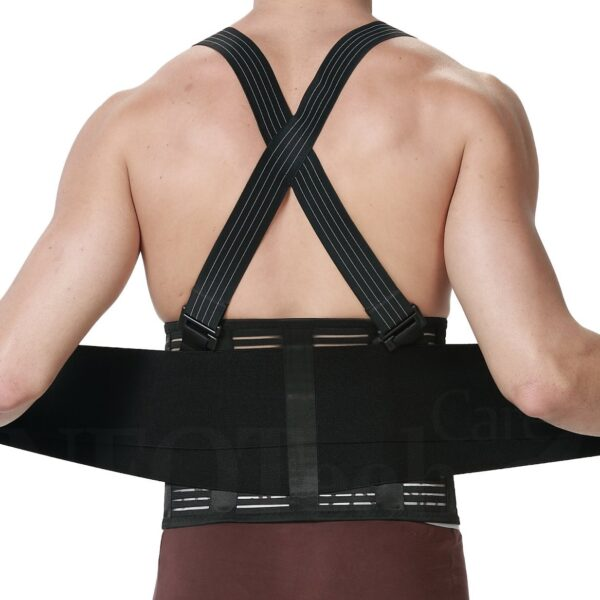 Back Brace Lumbar Support Belt with Suspenders