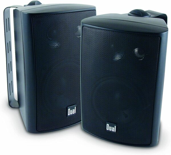 Dual Electronics LU43PB 3 Way High Performance Outdoor Indoor Speakers with Powerful Bass