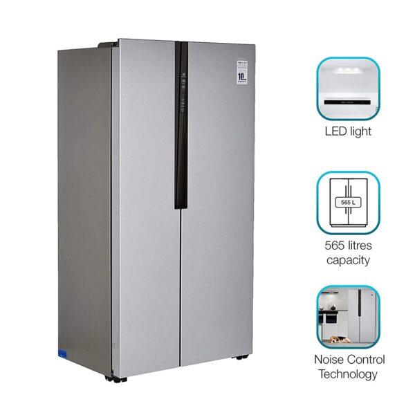Haier 565 L Inverter Side by Side Door Refrigerator HRF 619SS