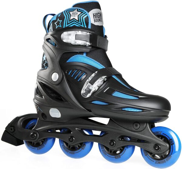 High Bounce Adjustable Inline Skates for Kids and Adults