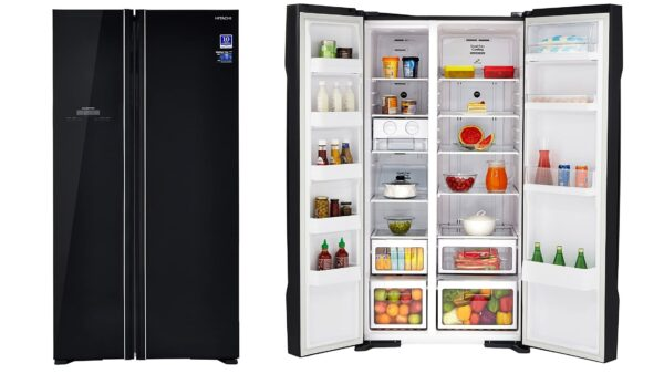 Hitachi 659 L Frost Free Side by Side Refrigerator R S700PND2