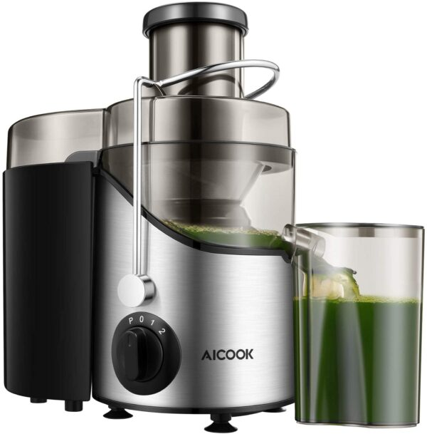 Juicer Juice Extractor Aicook Juicer Machine with 3 Wide Mouth