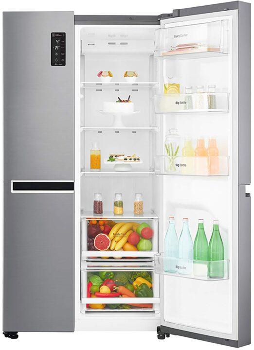 LG 687 L Frost Free Inverter Linear Side by Side Refrigerator GC B247SLUV