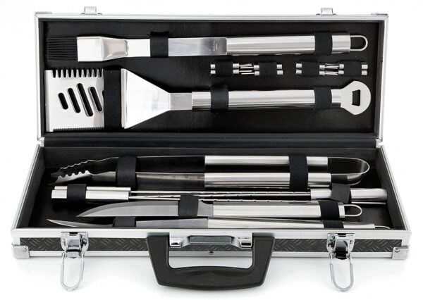 Mr. Bar B Q 18 Piece Tool set with Case