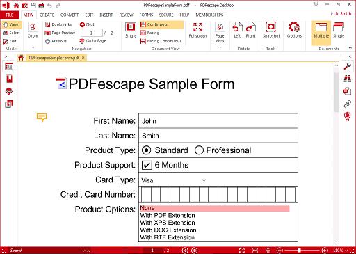 PDFescape PDF Editor