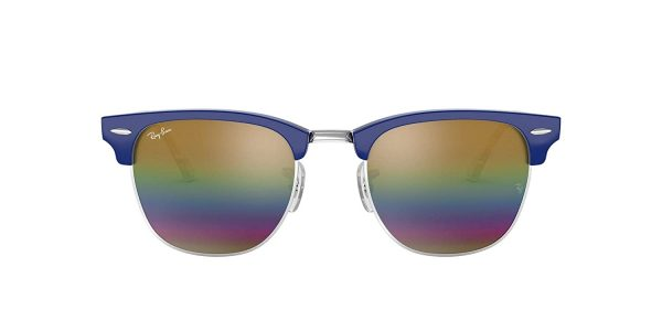 Ray Ban UV Protected Unisex Classic Clubmaster Sunglasses