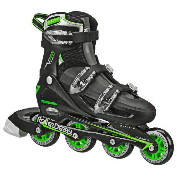 Roller Derby Mens V Tech 500 Button Adjustable Inline Skate