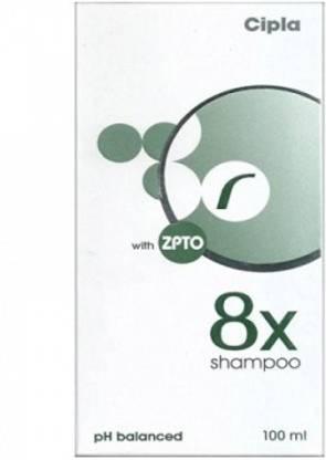 Cipla 8x Shampoo with ZPTO 100 ml
