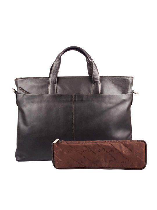 Kara Women Brown Nicklaus Leather Handbag